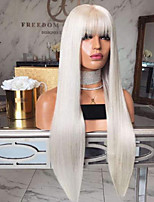 cheap -Synthetic Wig Straight Asymmetrical Wig Long White Synthetic Hair 27 inch Women's Best Quality White