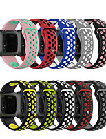 cheap -Watch Band for Fitbit Blaze / Fitbit Versa / Fitbi Versa Lite Fitbit Sport Band Silicone Wrist Strap Double color SLR buckle