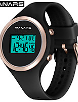 cheap -SYNOKE Digital Watch Digital Sporty Stylish Silicone 30 m Water Resistant / Waterproof Calendar / date / day LCD Digital Outdoor Fashion - Black White Pink