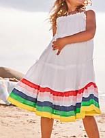 cheap -Kids Girls' Striped Dress White