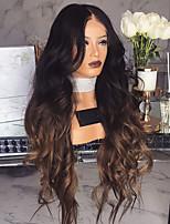 abordables -Perruque Synthétique Bouclé Coupe Asymétrique Perruque Long Noir / Brun Cheveux Synthétiques 27 pouce Femme Meilleure qualité Noir Marron