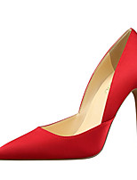 cheap -Women's Heels Stiletto Heel Pointed Toe Satin Minimalism Walking Shoes Spring &  Fall / Spring & Summer Black / Dark Grey / Light Green