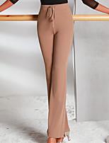 abordables -Danse latine Bas Femme Utilisation Tricot Ruché Taille haute Pantalon