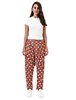 cheap -Women's Yoga Pants Harem Print Black Light Coffee Red / White Red Combo Dark Blue Dance Fitness Gym Workout Bloomers Sport Activewear Lightweight Breathable Quick Dry Soft Stretchy Loose