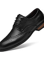 cheap -Men's Formal Shoes Nappa Leather Spring / Fall & Winter Classic / British Oxfords Non-slipping Black / Brown