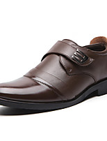 cheap -Men's Formal Shoes Synthetics Spring / Fall & Winter Casual / British Loafers & Slip-Ons Non-slipping Black / Brown