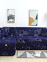 cheap -Cartoon Constellation Print Dustproof All-powerful Slipcovers Stretch L Shape Sofa Cover Super Soft Fabric Couch Cover with One Free Pillow Case