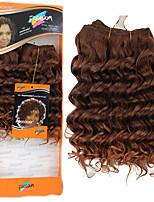 cheap -Curly Crochet Hair Braids Highlighted Hair Hair Weft with Closure Natural Synthetic Hair Braids Braiding Hair 1 Piece
