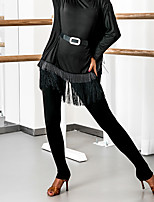 cheap -Latin Dance Bottoms Women's Performance Spandex Ruching Natural Pants