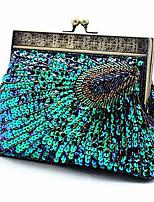 cheap -Women's Chain Polyester Evening Bag Color Block Black / Purple / Gold