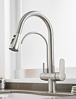 cheap -Kitchen faucet - Single Handle One Hole Electroplated Tall / High Arc / Purified water Centerset Contemporary Kitchen Taps