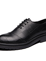 cheap -Men's Formal Shoes Synthetics Spring & Summer / Fall & Winter Casual / British Oxfords Non-slipping Black