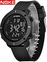 cheap -SYNOKE Digital Watch Digital Sporty Stylish Silicone 30 m Water Resistant / Waterproof Calendar / date / day LCD Digital Outdoor Fashion - Black Black / Gray Black / Silver