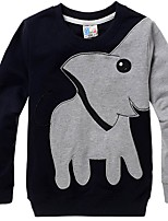 cheap -Kids Boys' Street chic Animal Long Sleeve Hoodie & Sweatshirt Black