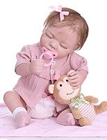 cheap -NPKCOLLECTION 20 inch Reborn Doll Baby Girl Gift Hand Made New Design Full Body Silicone Silicone Silica Gel with Clothes and Accessories for Girls' Birthday and Festival Gifts