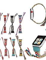abordables -Bracelet de montre pour Apple Watch Series 5/4/3/2/1 Bracelet en tissu de conception de bijoux en pomme