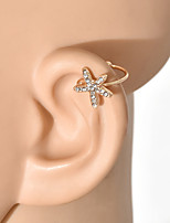 cheap -Women's Ear Cuff Classic Star Earrings Jewelry Gold For Wedding Party Festival 1 Pair