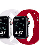 abordables -Bracelet de Montre  pour Apple Watch Series 4 / Apple Watch Series 3 / Apple Watch Series 2 Apple Bracelet Sport Silikon Sangle de Poignet