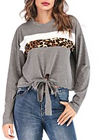 cheap -Women's Daily T-shirt - Color Block Gray