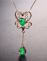 cheap -Women's Chrome Diopside Pendant Necklace Classic Classic Chrome Rose Gold 45 cm Necklace Jewelry 1pc For Daily
