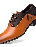 abordables -Homme Chaussures de confort Polyuréthane Automne hiver Oxfords Noir / Marron / Jaune