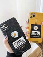 cheap -Case For Apple iPhone 11 / iPhone 11 Pro / iPhone 11 Pro Max Shockproof / Plating Full Body Cases Solid Colored / Flower TPU / PC