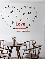 cheap -Decorative Wall Stickers - Mirror Wall Stickers Abstract / Hearts Bedroom / Indoor