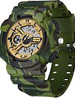 cheap -SYNOKE Digital Watch Digital Sporty Stylish Silicone 30 m Water Resistant / Waterproof Calendar / date / day LCD Analog - Digital Outdoor Fashion - Black White Green