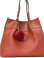 cheap -Women's Zipper PU Top Handle Bag Brown / White / Green