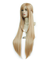 cheap -Synthetic Wig Curly Asymmetrical Wig Very Long Light Brown Synthetic Hair 39 inch Women's Best Quality Light Brown