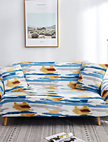cheap -Art Blue Ink Print Dustproof All-powerful Slipcovers Stretch Sofa Cover Super Soft Fabric Couch Cover with One Free Pillow Case