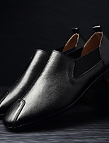 cheap -Men's Comfort Shoes PU Fall & Winter Loafers & Slip-Ons Black / Brown / White