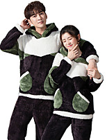 cheap -Adults' Kigurumi Pajamas Cartoon Onesie Pajamas Flannel Black Cosplay For Men and Women Animal Sleepwear Cartoon Festival / Holiday Costumes / Leotard / Onesie
