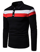 cheap -Men's Daily Basic Polo - Color Block Black