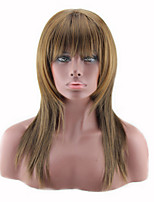 cheap -Synthetic Wig Curly Asymmetrical Wig Long Light Brown Synthetic Hair 27 inch Women's Best Quality Light Brown