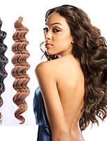 cheap -Wavy Costume Accessories Crochet Hair Braids Natural Natural Color Synthetic Hair 100% kanekalon hair Braids Braiding Hair 6 Pieces