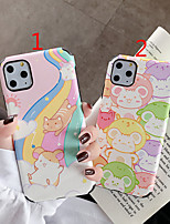 cheap -Case For Apple iPhone 11 / iPhone 11 Pro / iPhone 11 Pro Max Shockproof / Frosted / Pattern Back Cover Cartoon PU Leather / TPU