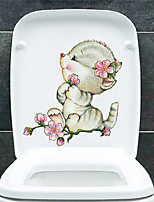 cheap -Cute Animal Toilet Stickers - Animal Wall Stickers Animals Bathroom / Kids Room
