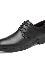 cheap -Men's Leather Shoes Nappa Leather Spring / Fall & Winter Classic / British Oxfords Non-slipping Black / Brown / Coffee