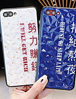 cheap -Case For Huawei Huawei Nova 4 / Huawei nova 4e / Huawei P20 Shockproof Back Cover Word / Phrase / Solid Colored PC