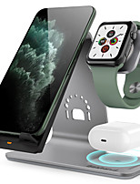 cheap -10 W 3 in 1 Wireless Chargers / Wireless Charger USB Charger USB Wireless Charger 1 USB Port 2 A / 1.67 A DC 9V / DC 5V for Apple Watch Series 4/3/2/1 iPhone 11 / iPhone 11 Pro / iPhone 11 Pro Max