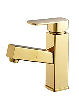 cheap -Bathroom Sink Faucet - Standard Electroplated / Painted Finishes Free Standing Single Handle One HoleBath Taps