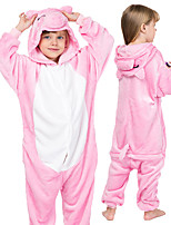 cheap -Kid's Kigurumi Pajamas Piggy / Pig Onesie Pajamas Flannel Pink Cosplay For Boys and Girls Animal Sleepwear Cartoon Festival / Holiday Costumes / Leotard / Onesie