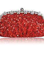 cheap -Women's Chain Polyester Evening Bag Solid Color Black / Wine / Champagne
