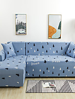cheap -Cartoon Forest Print Dustproof All-powerful Slipcovers Stretch L Shape Sofa Cover Super Soft Fabric Couch Cover with One Free Pillow Case