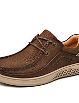 cheap -Men's Formal Shoes Nappa Leather Spring & Summer / Fall & Winter Classic / Vintage Oxfords Shock Absorbing Brown / Coffee / Khaki