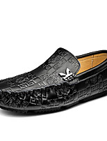 cheap -Men's Formal Shoes Cowhide Spring / Fall & Winter Casual / British Loafers & Slip-Ons Non-slipping Black / Brown / Blue