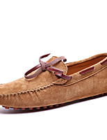 cheap -Men's Dress Shoes Synthetics Spring & Summer / Fall & Winter Casual / British Loafers & Slip-Ons Non-slipping Black / Brown / Blue