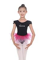 cheap -Kids' Dancewear Leotards Girls' Training Cotton / Spandex Pattern / Print Sleeveless Natural Leotard / Onesie