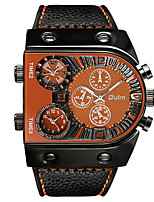 cheap -Men's Sport Watch Japanese Quartz PU Leather Black / Chocolate Chronograph Creative New Design Analog Outdoor New Arrival - Black Black / Yellow Black / White Two Years Battery Life